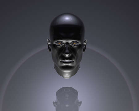 cyber men head with texture Stock Photo - 6306461