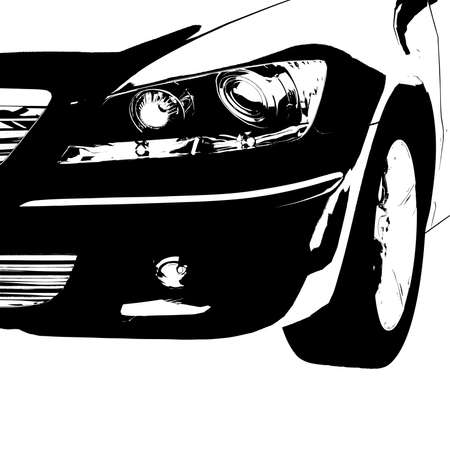 bumper:  luxury expensive car Illustration