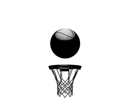 basketball net: baloncesto  Vectores