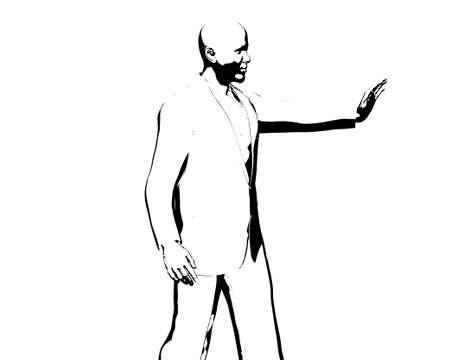 statesman: Barack Obama silhouette