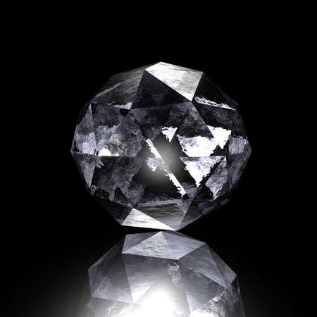 gem on a black background, render photo