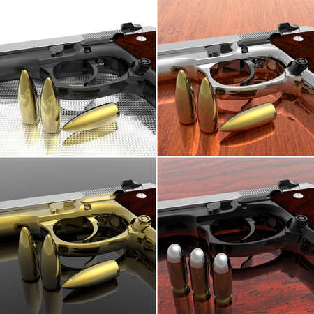 gun with bullets on the table Stock Photo - 6579731
