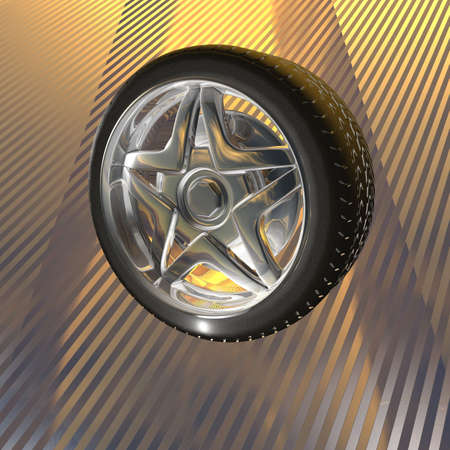 tire wheel concept 3D render Stock Photo - 6880441