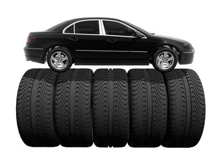 tire wheel concept 3D render photo
