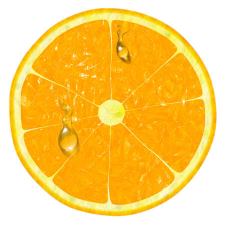 orange slice isolated on a white background Banque d'images