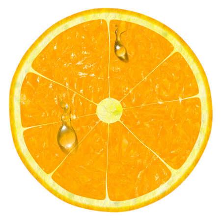 verre jus orange: orange tranche isol� sur un fond blanc Banque d'images