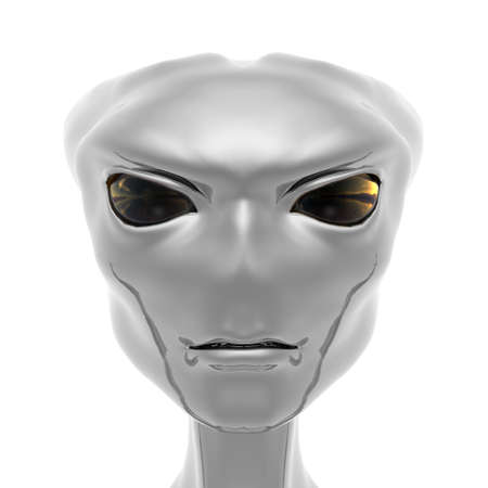 fantasy alien: alien portrait from Roswell computer 3d  render