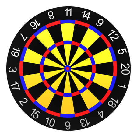 Dart board isolated on a white background photo