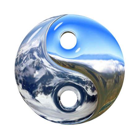 ying yang: Yin and Yang symbol isolated on a white background