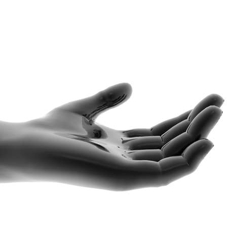 open hand isolated on a white background Banque d'images