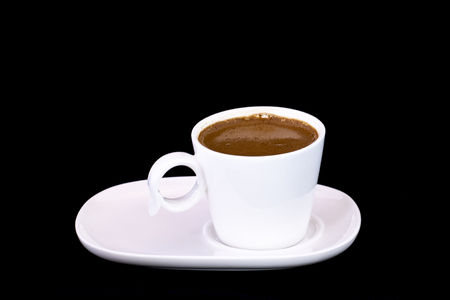 Turkish coffee with isolated black background