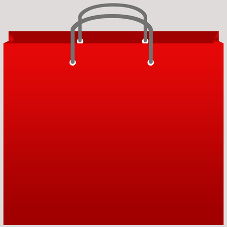 Red shopping bag vector with isolated background