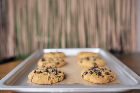 Gluten free cookies with all gluten free ingredients on service tray Reklamní fotografie