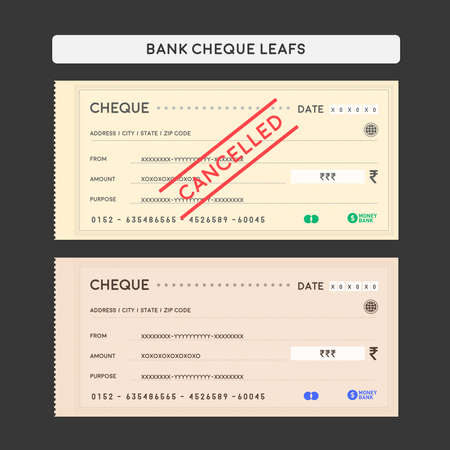 Bank Cheque Leafs Illustration