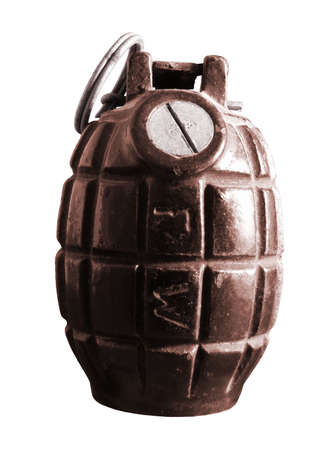 An isolated hand grenade from the armed forced. Stock Photo - 3878318