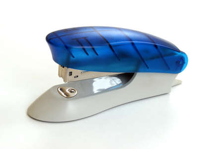 An isolated stylish stapler over white background. photo