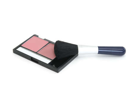 A two tone blush set with a large applicator brush.