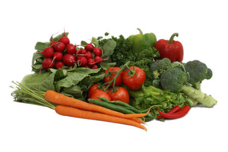 An arrangement of various vegetables on white background. Stock Photo - 4965681