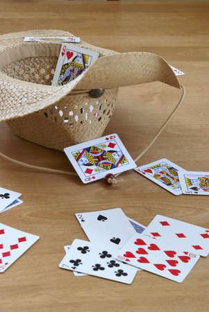 passtime: A game of tossing cards into a hat.