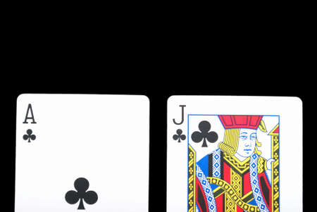 A winning hand in the card game black jack.