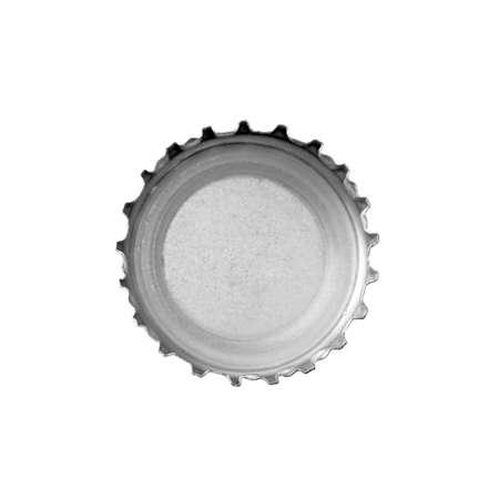 Asingle bottle cap isolated on white background.