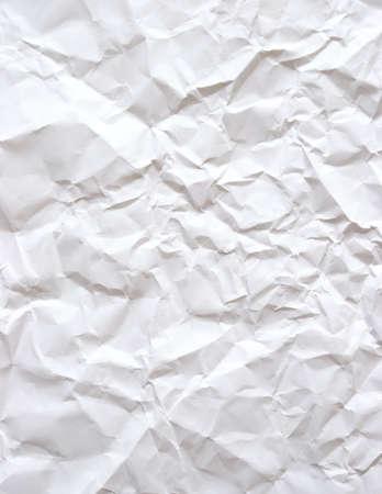 anleihe: Ein Stück von plain white Bond-Papier, das gerunzelt wurden hat.  Lizenzfreie Bilder