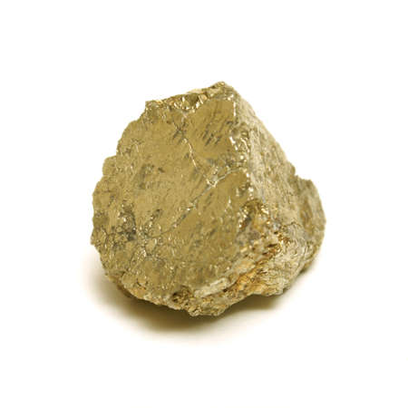 raw: A macro shot of a nice size gold nugget. Stock Photo