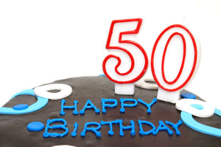 A 50th birthday cake for that special someone. photo