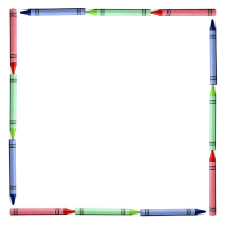 bordure de page: Une fronti�re avec des crayons de couleur RVB pour tout votre atelier cr�atif.