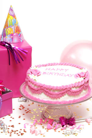 celebration: Welcome to the party for any females birthday. Stock Photo
