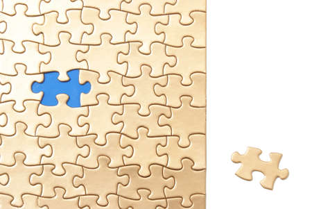 final piece of puzzle: The final piece to the golden puzzle lies in a section of bright white where any text may be inserted to communicate a conceptual message.
