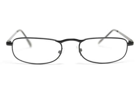 sleek: A pair of sleek reading glasses isolated on a white background.