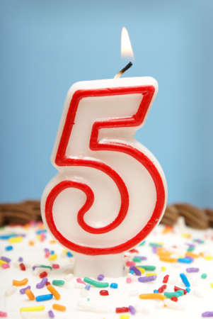 A celebration of the fifth year either for a birthday, business or other event. Stock Photo - 9779410