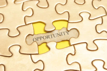A conceptual image giving the idea that opportunities can sometimes be a bit puzzling. photo