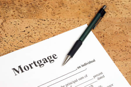 A closeup shot of mortgage forms for the people buying a house. Stock Photo - 9909984