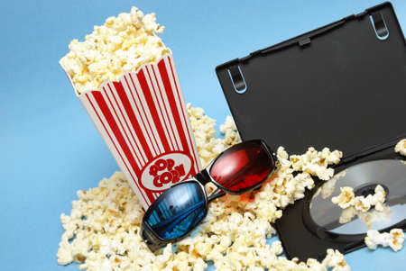A still-life theme based on the experience of 3d movie entertainment. photo