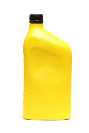 An isolated shot of an automobile oil jug. photo