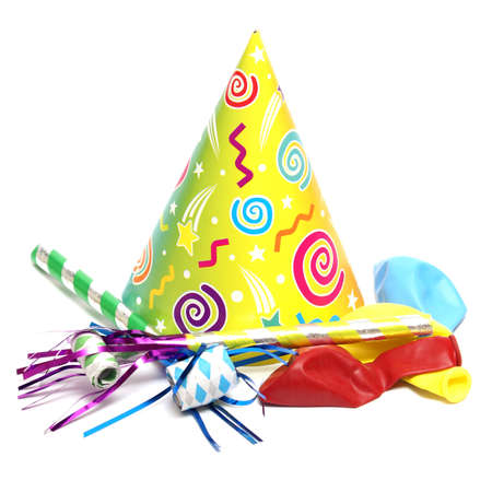 An isolated shot of a few good party supplies to start the celebration. photo