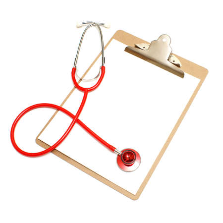medical notes: A medical clipboard with a blank page for your copy.
