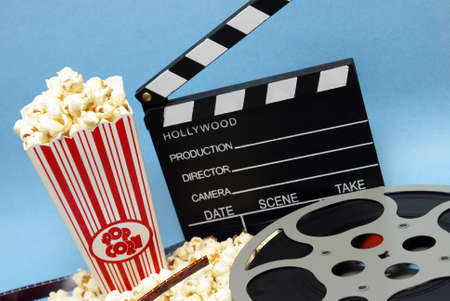 A still life of things related to the film industry. Stock Photo - 11281204