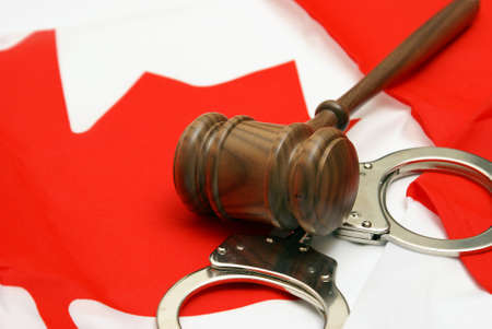 ruling: A conceptual images related to the theme of Canadian Jurisdiction. Stock Photo