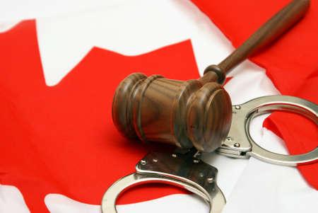 mandato judicial: A las im�genes conceptuales relacionados con el tema de la jurisdicci�n canadiense. Foto de archivo