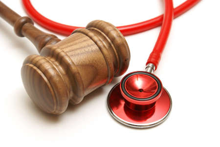 A concept related to a medical lawsuit in the legal system. Banque d'images