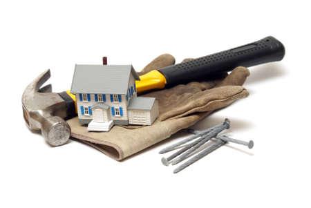 renovation de maison: Un concept bas� sur l'industrie de la construction en utilisant quelques �l�ments connexes.