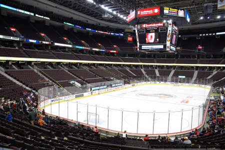 rink: A view of the inside of the Scotiabank Place arena before the Ottawa Senators practice on March 7, 2009.