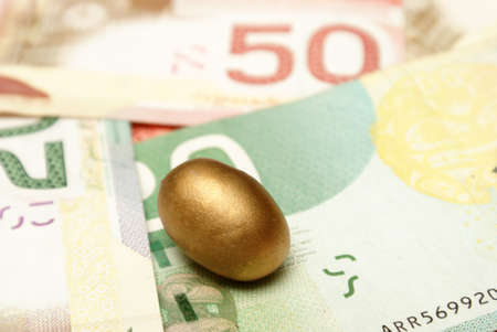 A conceptual image based on creating a wealthy nest egg. photo