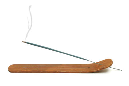An isolated shot of an aromatic incense burning.