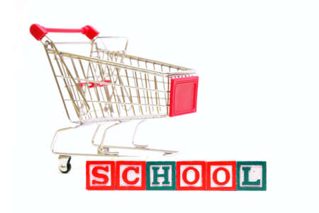 A concept based on shopping for school supplies. photo