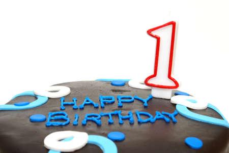今日 1 つを回す特殊な小さな男の誕生日ケーキ。