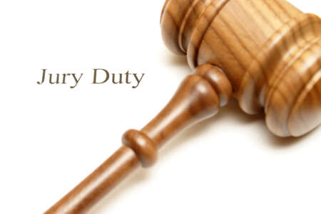 Someone has been selected for jury duty in the legal system. Stock Photo - 14748184